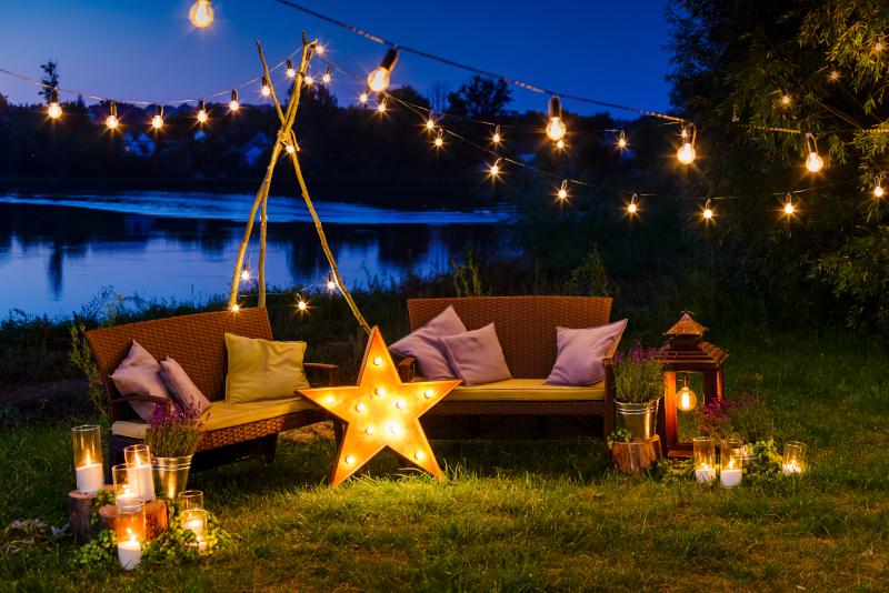 Beautiful patio lights - patio ideas